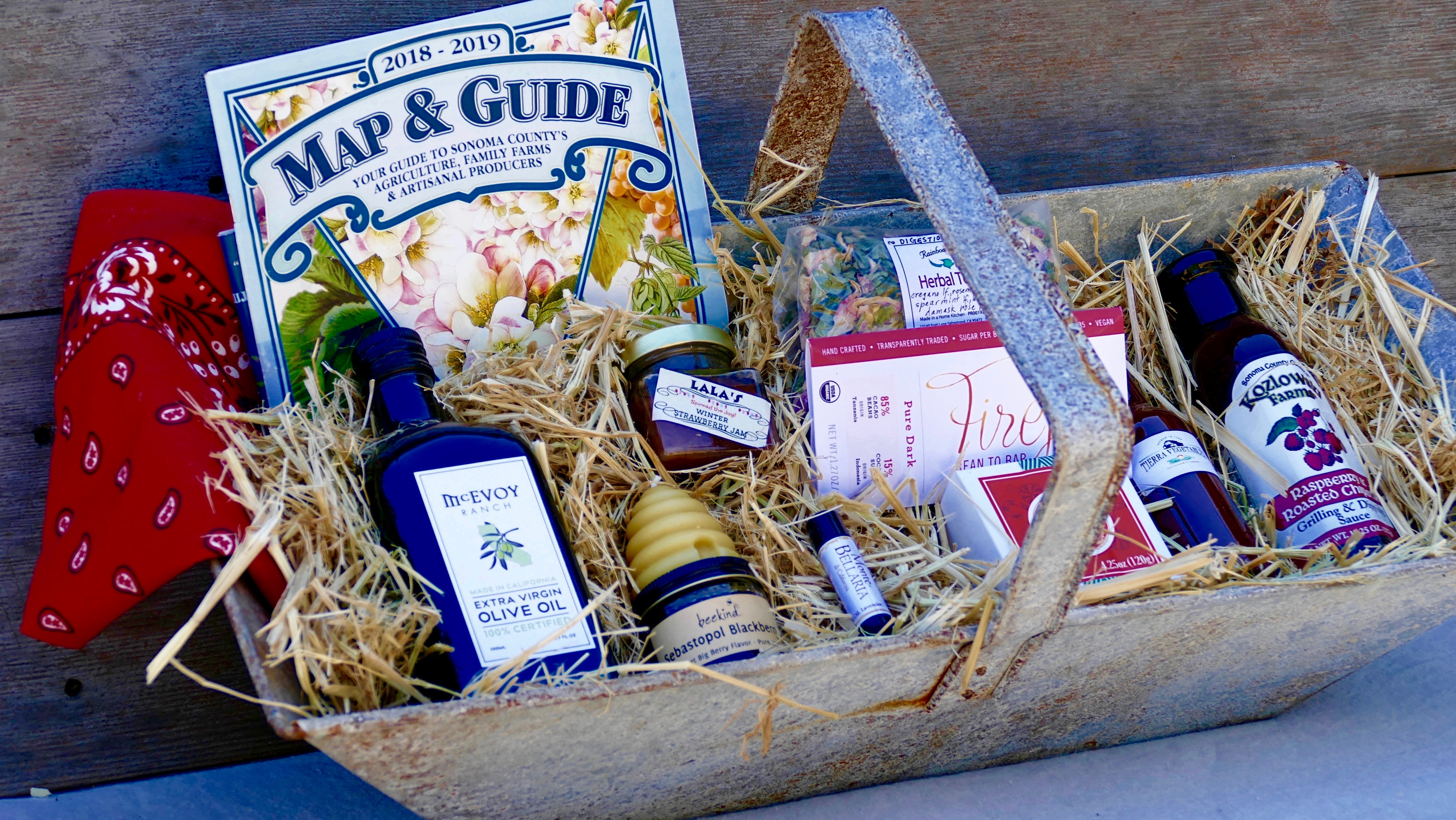 Farm Trails Edition – Sonoma Love Box. Metal basket not included. Courtesy of Cloverdale Nursery.