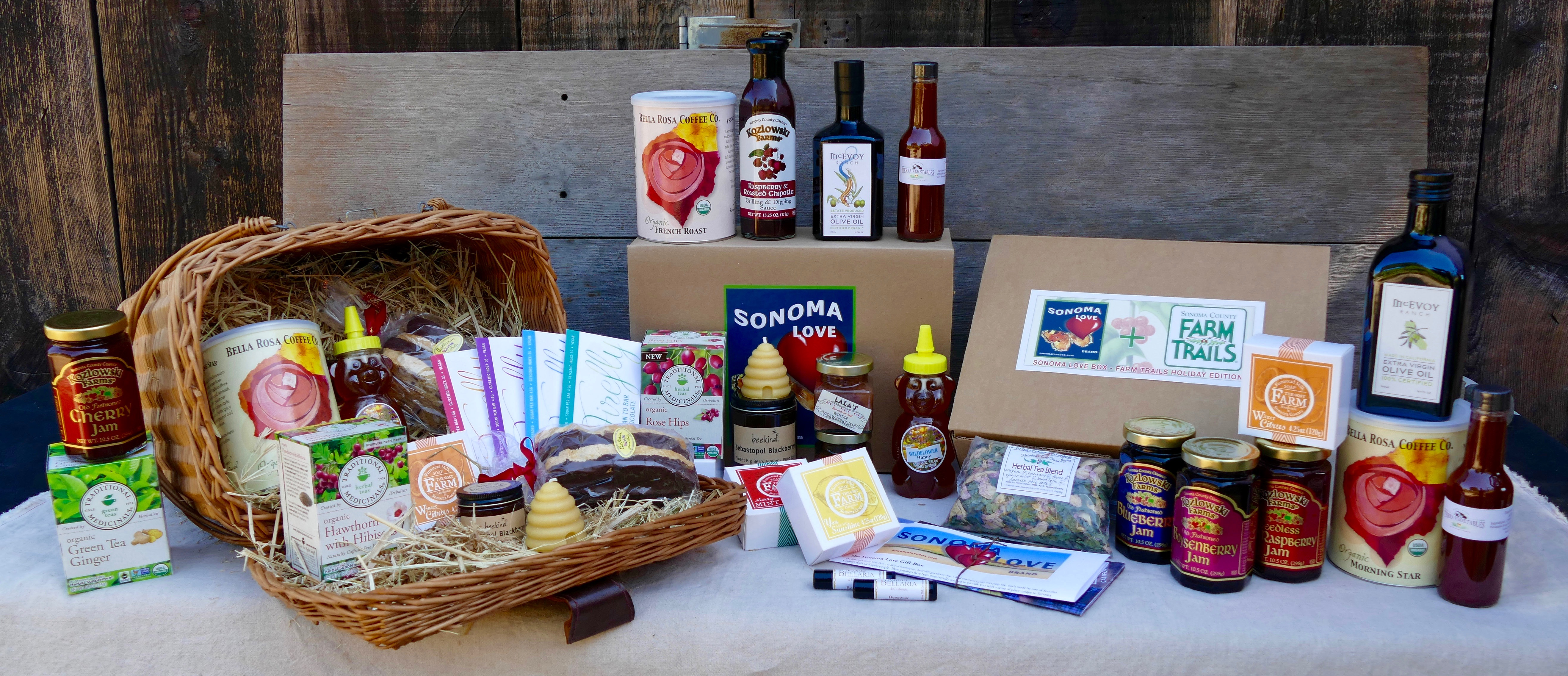 The Sonoma Love Gift Boxes – are carefully curated gift boxes of locally made specialty goods enjoyed in everyday life with a little luxury tossed in for ...
